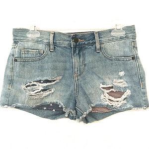 Old Navy Flag Distressed Shorts ~ A415